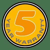 5 yaer warranty