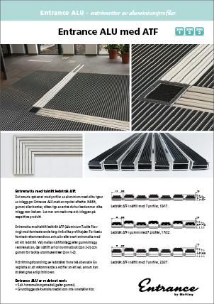 Entrance ALU, aluminiumprofilmatta med ledstråk ATF