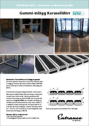 Entrance ALU - Aluminiumprofilmatta med inlägg av gummi