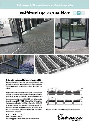 Entrance ALU - Aluminiumprofilmatta med inlägg av nålfilt