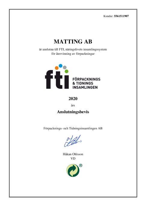 Certifikat FTI