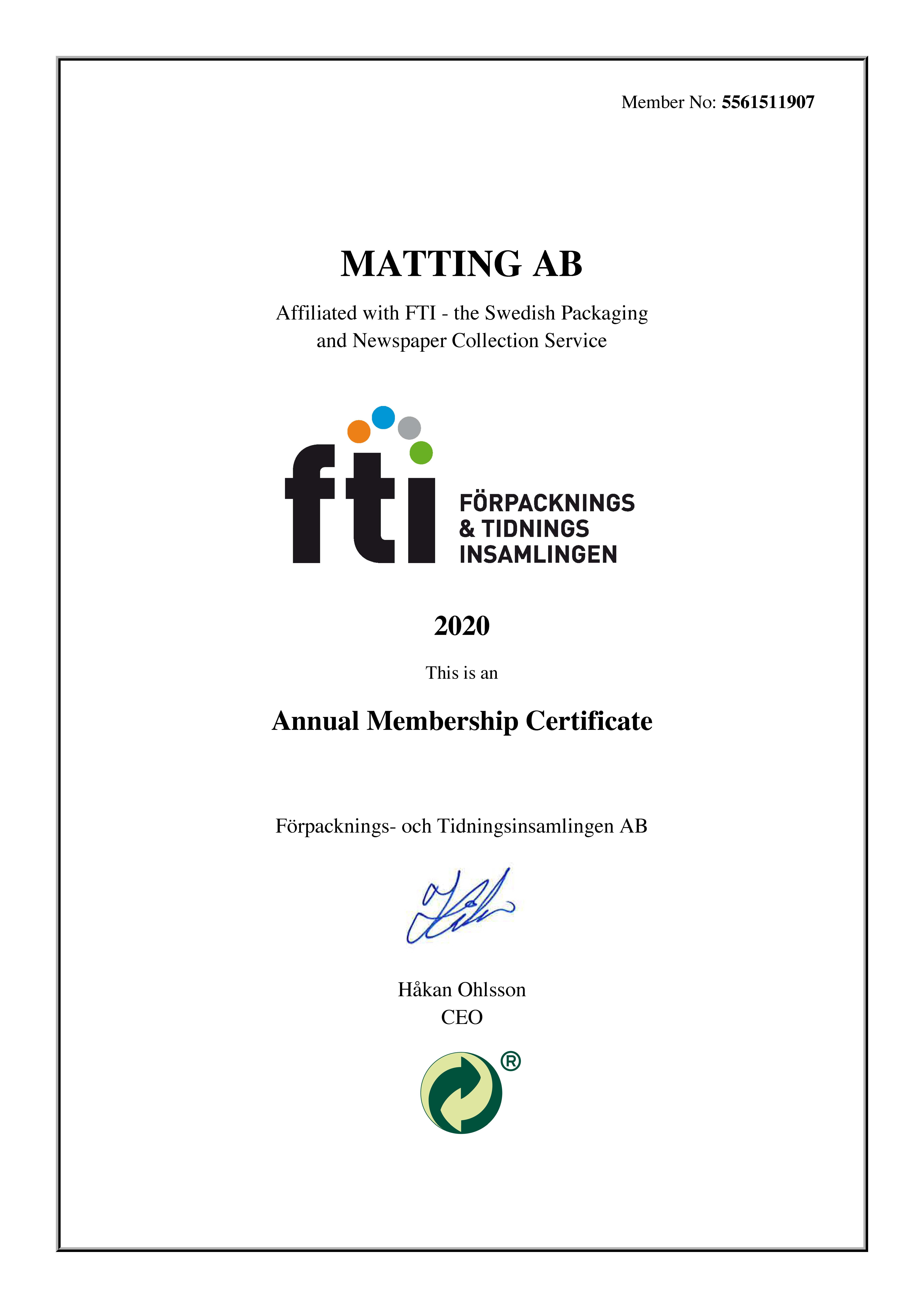 FTI Certificate Eng