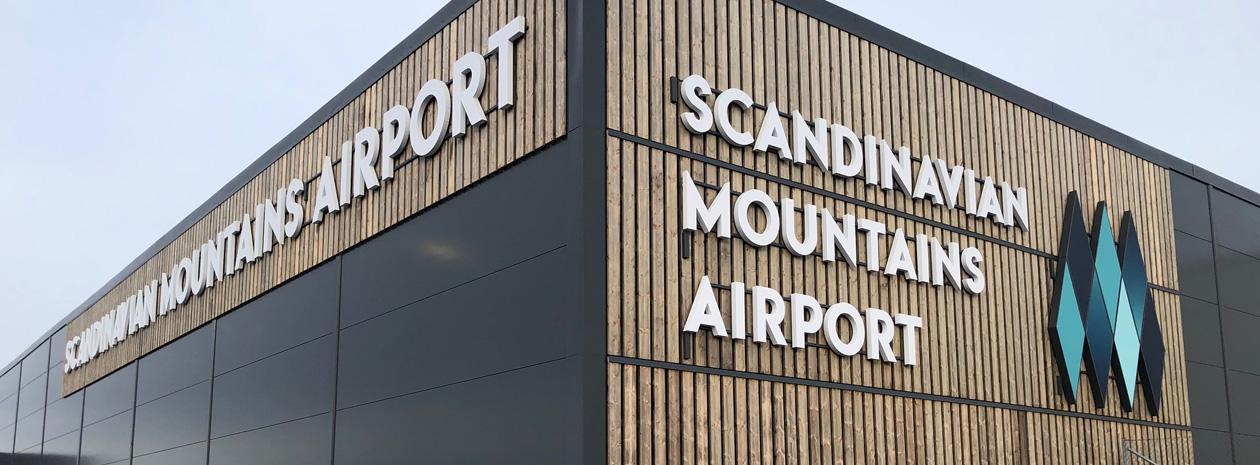 Entrélösning på Scandinavian Mountains Airport | Sälen-Trysil