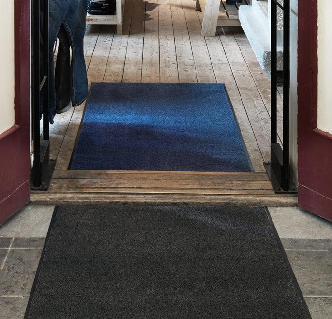 Entrance by Matting - Solett torkmatta, grå coh blå